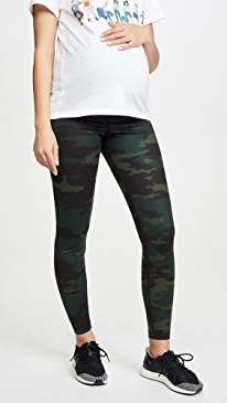 Active Leggings with Crossover Panel
