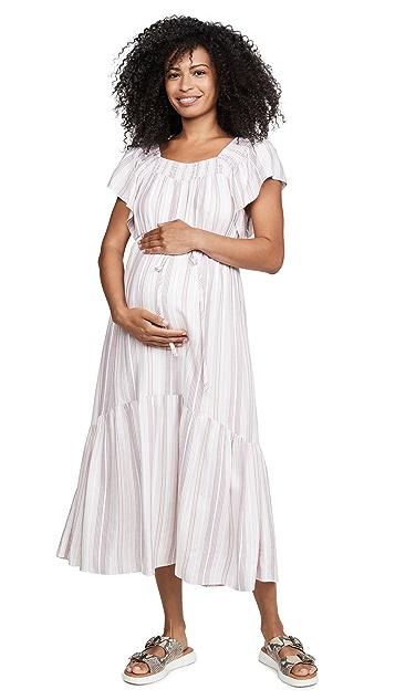 Ingrid & Isabel 荷叶袖孕妇装连衣裙
