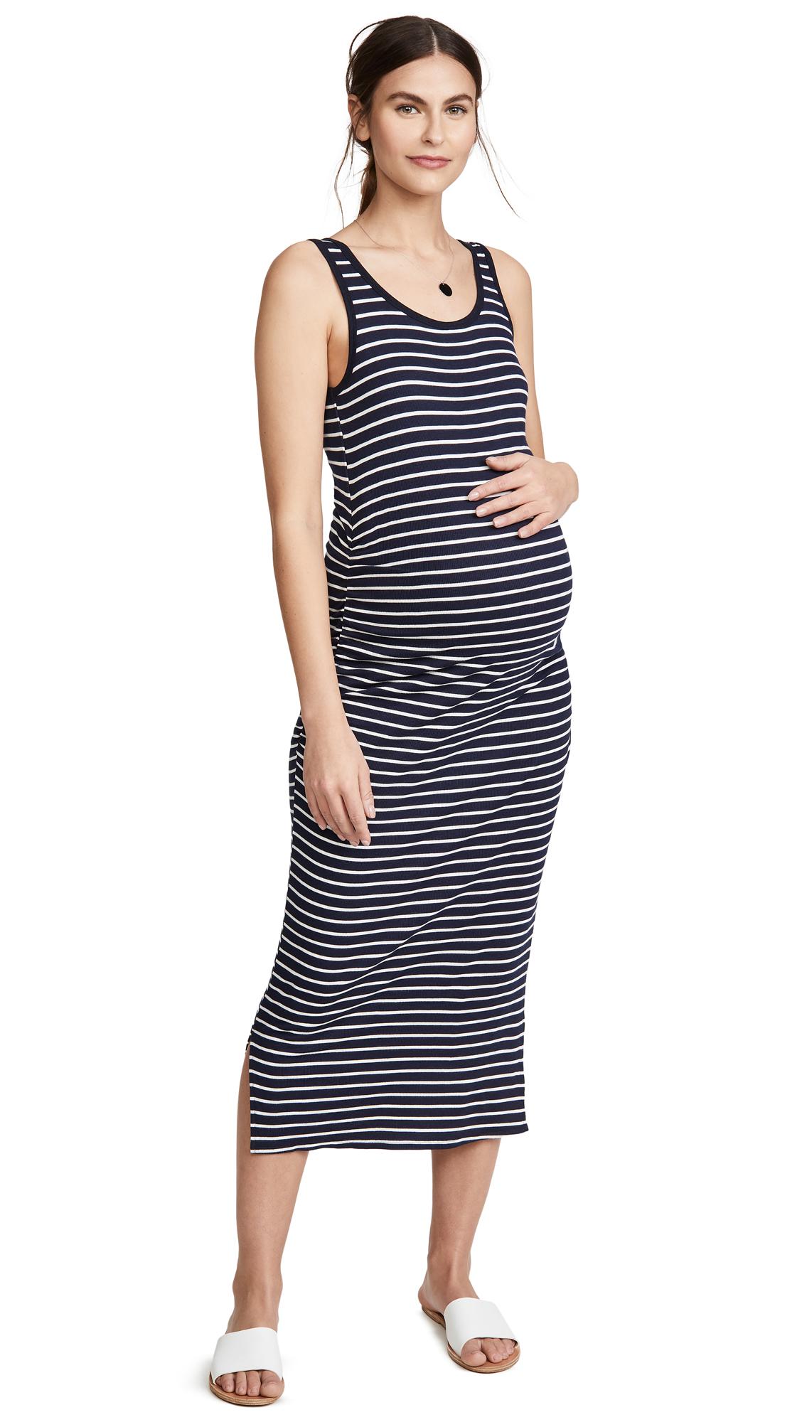 Ingrid & Isabel Ribbed Tank Maternity Midi Dress