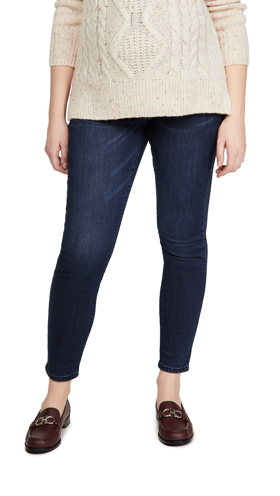 Ingrid & Isabel Maternity Skinny Jeans with Crossover Panel