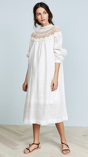 Innika Choo Crochet Collar Dress