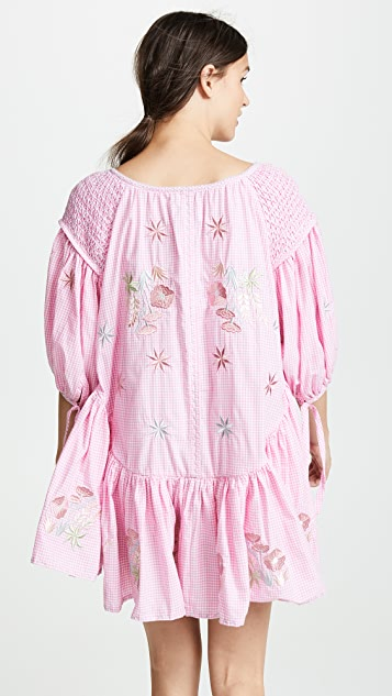 Innika Choo Frill Mini Smock Cover Up