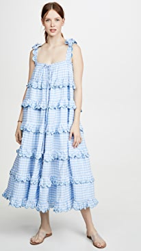 Scallop Frill Dress