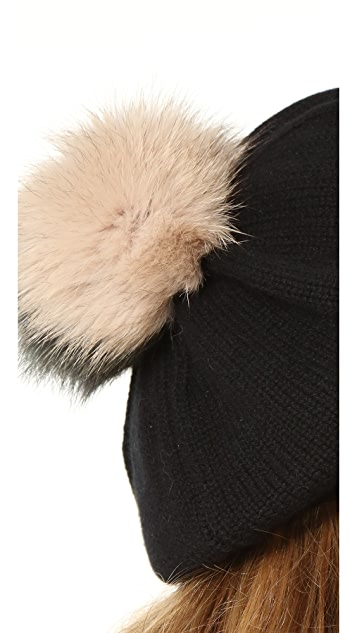 Inverni Beret with Two Tone Pom