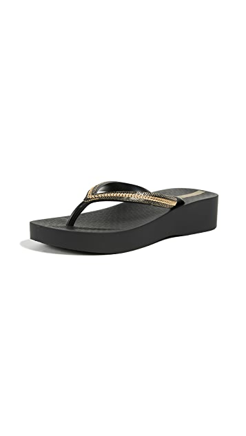 Ipanema Mesh Wedge Flip Flops