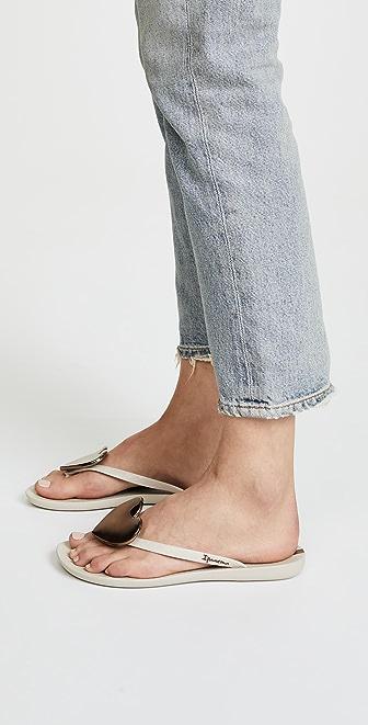 Ipanema Womens Maxi Heart Sandals Natural