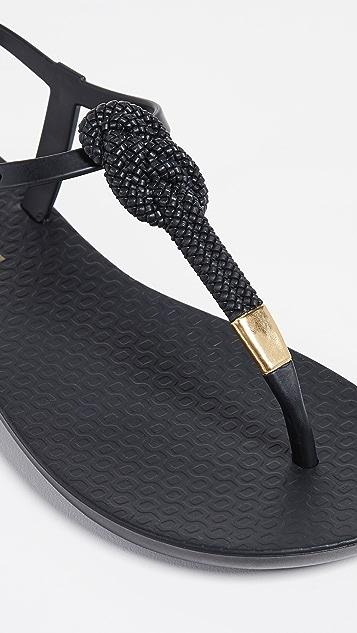 Ipanema Mara Knot T-Strap Sandals