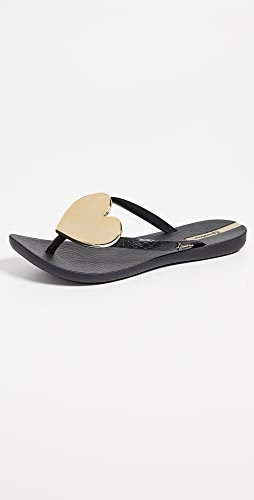 Ipanema - 活力心形装饰夹趾凉鞋