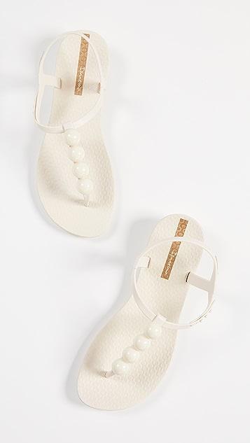 Ipanema 珍珠 T 型带凉鞋