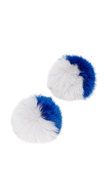 Iphoria Fox Fur Sneaker Charm Set