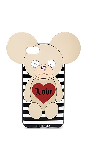 Iphoria Teddy Love Stripes iPhone 7 Case