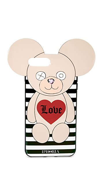 Iphoria Teddy Love Stripes iPhone 7 Plus / 8 Plus Case