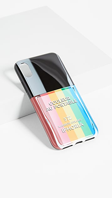 Iphoria Nail Polish Rainbow iPhone X Case