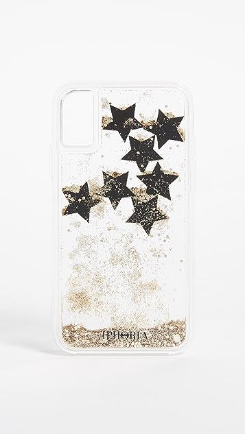huge discount d36dc abbf6 Black Stars iPhone X Case