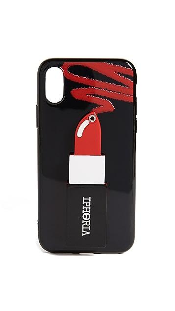 Iphoria Lipstick Red iPhone X Case