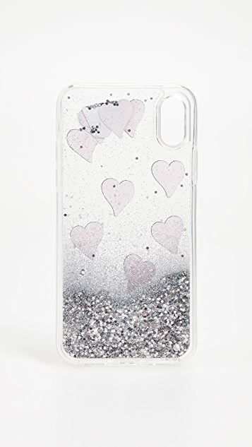 Iphoria Transparent Floating Hearts iPhone X Case