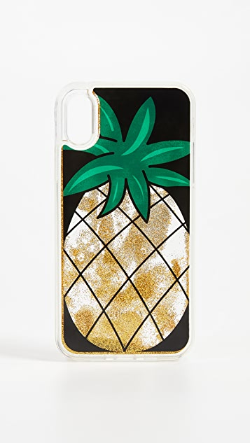 Iphoria Pineapple Glitter iPhone X Case