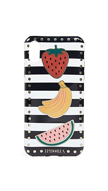 Iphoria Stripes with Fruits iPhone X Case