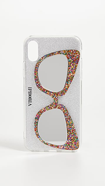 Iphoria Glitter Sunglasses iPhone X Case