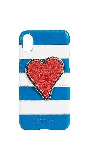 Iphoria Stripes Heart iPhone X Case