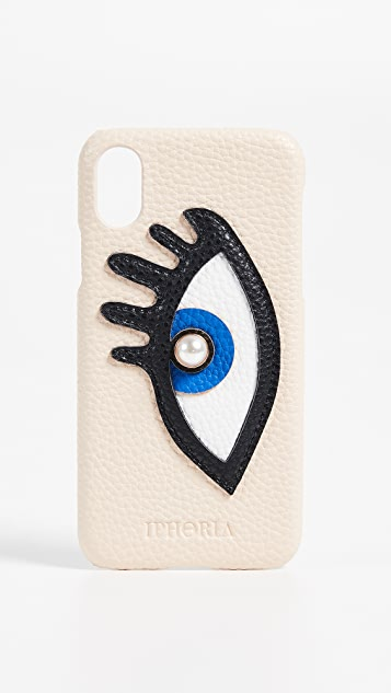 Iphoria Beige with Blue Eye iPhone X Case