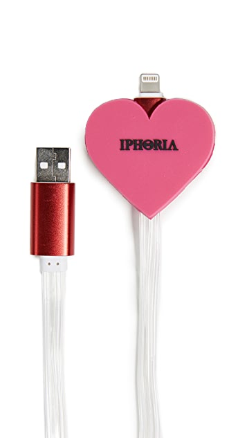 Iphoria Pink Heart Lightning iPhone Cable