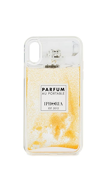Iphoria Perfume Gold Glitter iPhone X Case