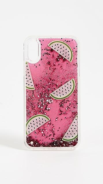 Iphoria Чехол Melon для iPhone XS/X с золотистыми блестками