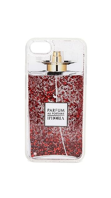 Iphoria Perfume Bright Red Glitter iPhone 7/8 Case