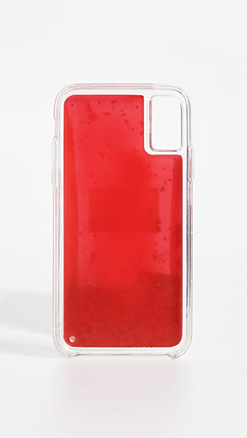 Iphoria 亮片奶白色 iPhone X 手机壳