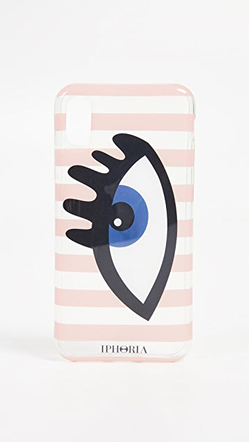 Iphoria Чехол Stripes Eye Blue для iPhone X
