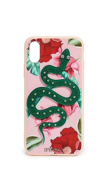 Iphoria Чехол Nude для iPhone X со змеей и цветами