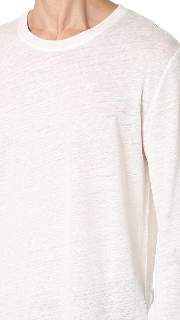 IRO Odon Long Sleeve Linen Tee