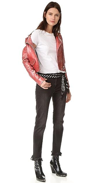 IRO Байкерская куртка с металлизированной Аксель