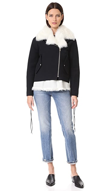 IRO Bells Jacket with Removable Fur Vest