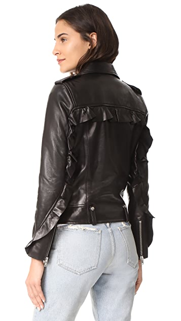 IRO Dumont Leather Jacket ...