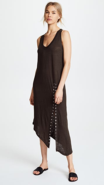 IRO Karossi Lace Up Dress - Charcoal