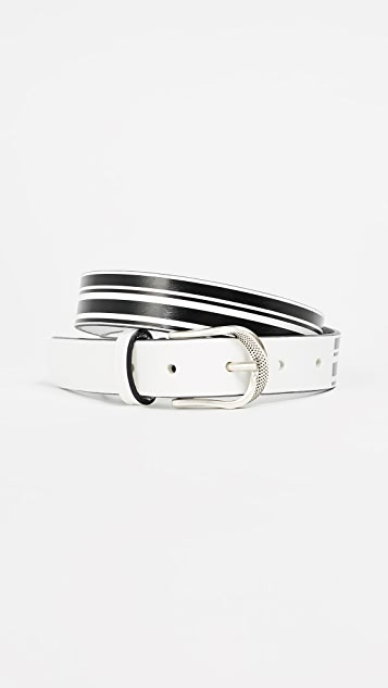 IRO Recife Belt - White/Black