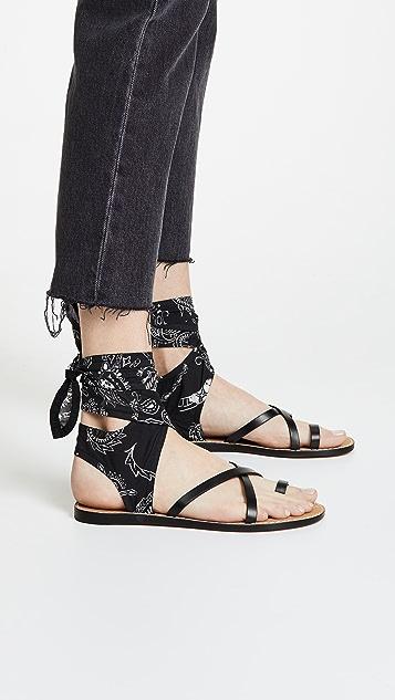 IRO Tais Bandana Wrap Sandals