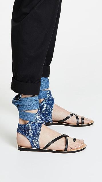 IRO Talita Sequin Wrap Sandals
