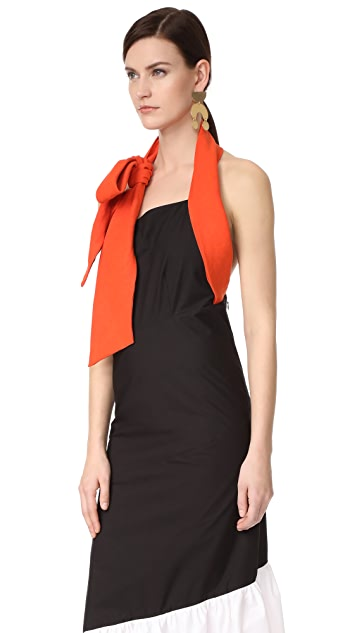 Isa Arfen Knot Halter Dress