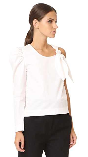 Isa Arfen One Sleeve Knot Top