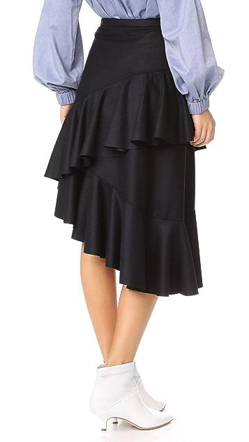 Isa Arfen Flounce Skirt