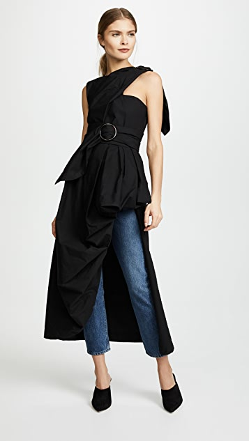 Isa Arfen Asymmetrical Draped Top