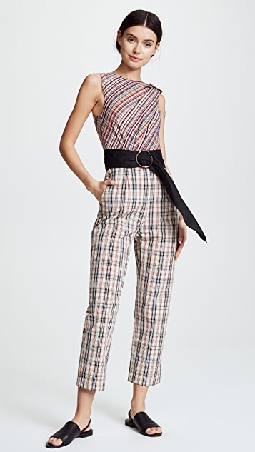Isa Arfen Asymmetric Draped Jumpsuit