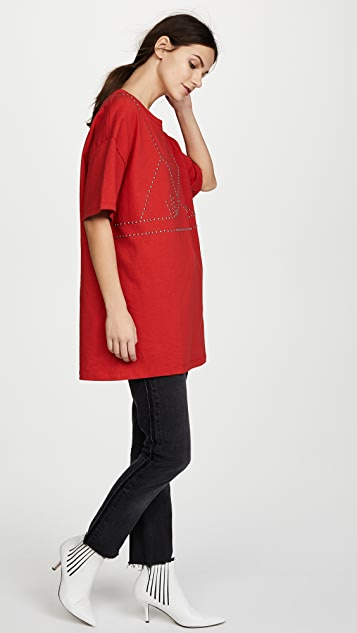 Isa Arfen Oversized Studded T-Shirt