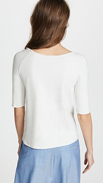 Isa Arfen 3 Knot Off Shoulder Stretch Top