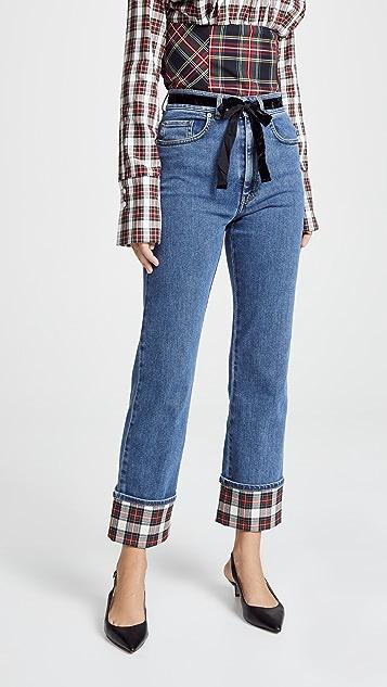 Isa Arfen Contrast Cuff Jeans