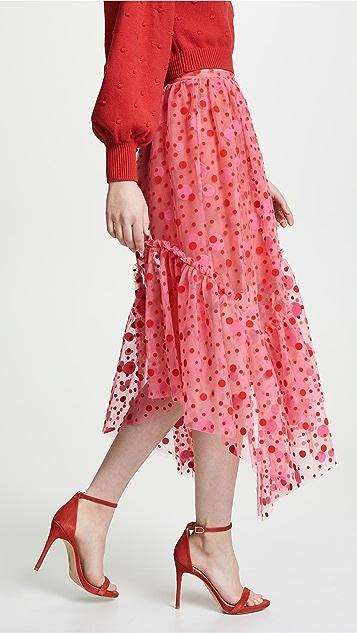 Isa Arfen Asymmetric Ruffle Hem Skirt