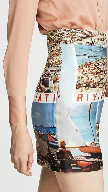 Isa Arfen Tourist Postcard Skirt